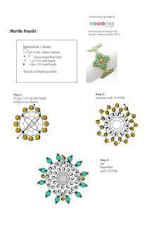 biZSUterie: Martha - free pattern - ingyenes minta4 mm strass and superduos