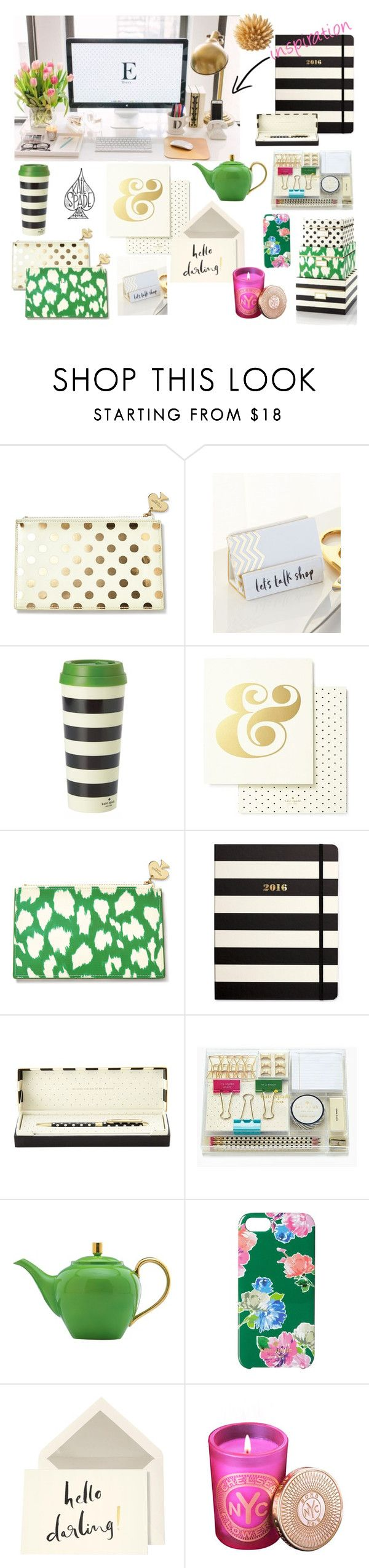 """""""Kate Spade dream office"""" by wanderlustcollection on Polyvore"""
