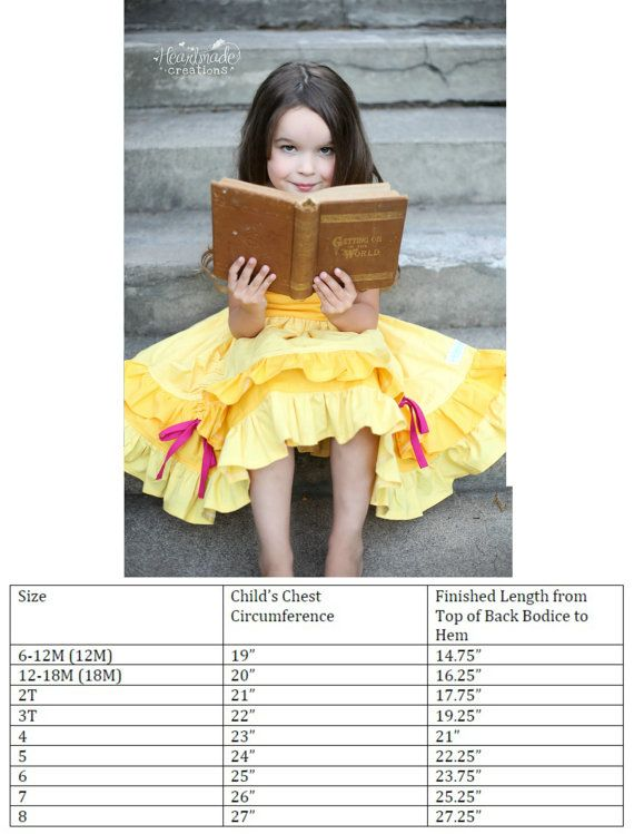 Belle Everyday Princess Dress Character by HeartmadeCreations