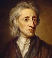John Locke (1632-1704) was een Engels filosoof. Mensen waren het eens dat koningen goddelijk macht hadden (Droit Divin). Hier was Locke het niet mee eens. Volgens hem had men gelijke rechten. Hij zei dat het te maken had met een soort afspraak. De koning zou ons land besturen en wij de wetten gehoorzamen.