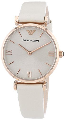 Emporio Armani Damen-Armbanduhr XS Analog Quarz Leder AR1769