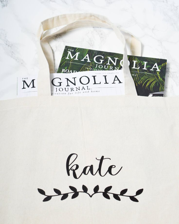 Personalized Bridesmaid Tote Bag - Bachelorette Party Tote Bag - Wedding Party Tote Bag - Custom Laurel Gift Bag - 02 - Bridesmaid Gift - Maid of Honor Gift - Wedding Gift - Bachelorette Party Gift - Collectively Kate - Personalized Gift - Custom Gifts - Magnolia -
