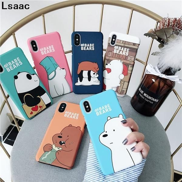 We Bare Bears Hard Phone Cases For iPhone 7 7plus 8 Plus 6 6s Plus Cute Cartoon …
