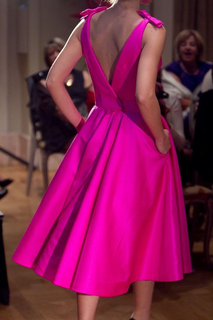 Hot pink dress by Vassilis Zoulias...pretty
