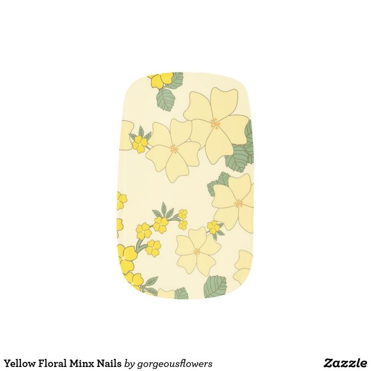 Yellow Floral Minx Nails Minx Nail Art