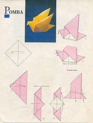 Sotão das Ideias: Animais em Origami - Use this diagram - link goes to defunct site (or at least temporarily)