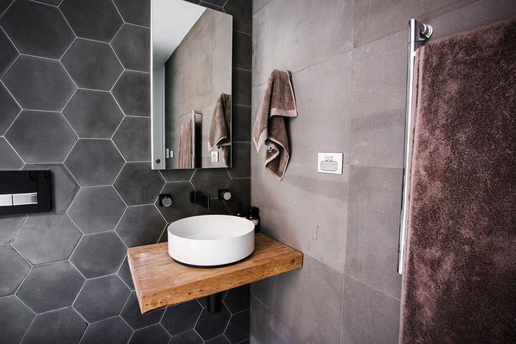 Have you noticed hexagonal tiles everywhere?  Now they come in many sizes.