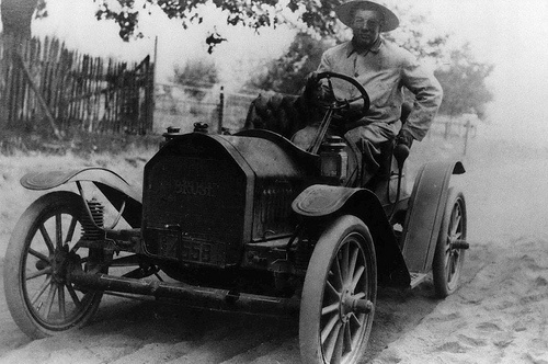 Mail carrier to Rural Route #1. by Beaverton, Oregon Historical Society c1911