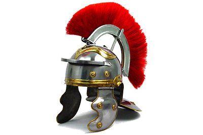 Roman Soldier Centurion Helmet with Red Plume Armor Gladiator ...