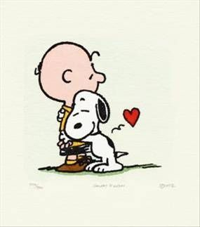 Snoopy & Peanuts - Hugs, Limited Edition Etching, 22 x 22cm Framed