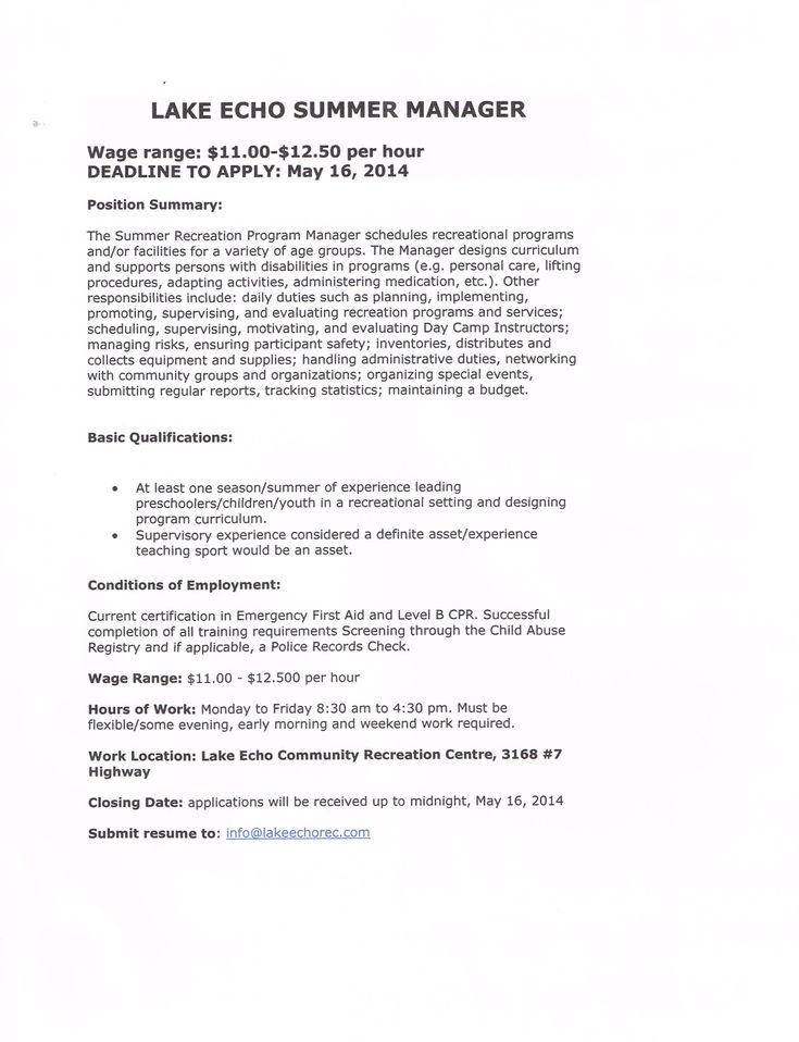 employment amp volunteer recruitment lake echo communityvolunteer resume business letter sample