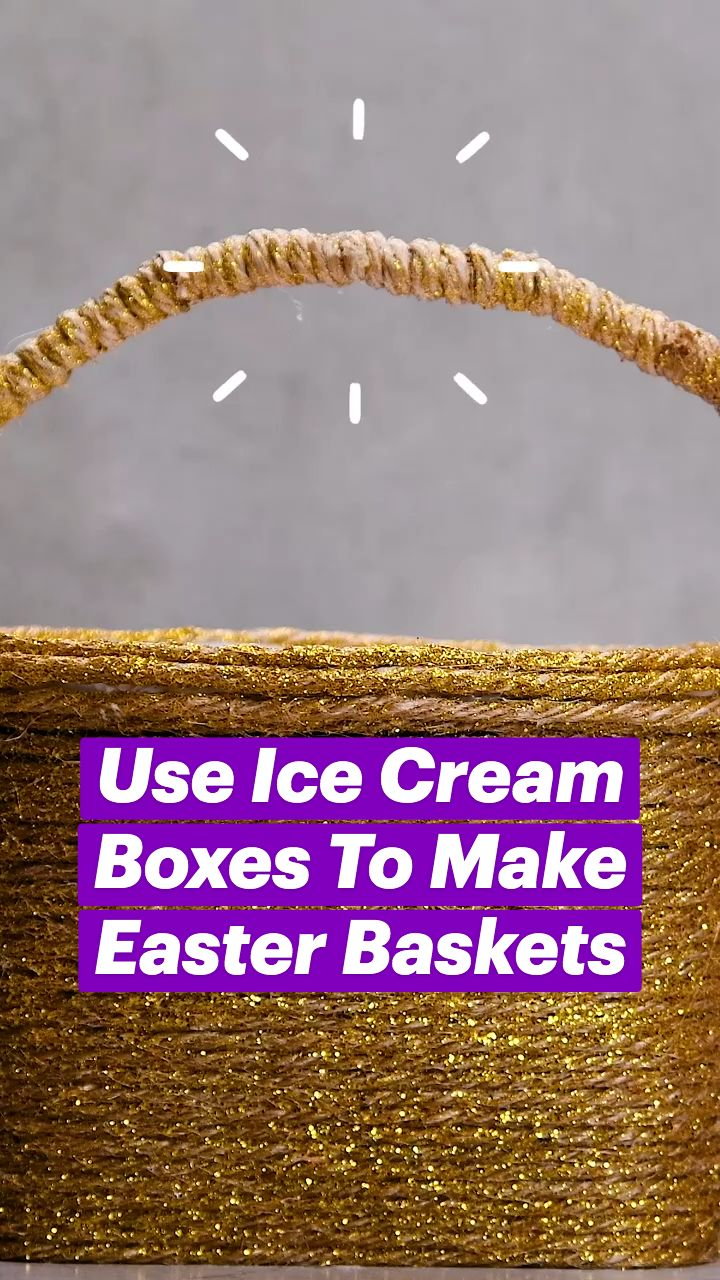Diy Crafts For Girls, Fun Diy Crafts, Diy Arts And Crafts, Diy Craft Projects, Holiday Crafts, Easter Baskets To Make, Hanging Jars, Glitter Crafts, Ice Cream Party