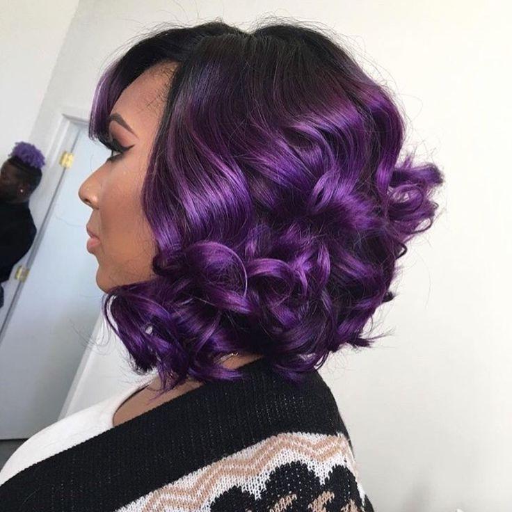 Gorgeous purple via @khromahairstudio  Read the article here - http://blackhairinformation.com/hairstyle-gallery/gorgeous-purple-via-khromahairstudio/
