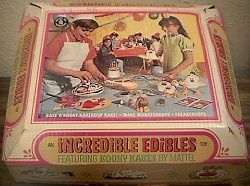 Incredible Edibles...boy, did that little cooker get hot! I can't believe it was a toy.