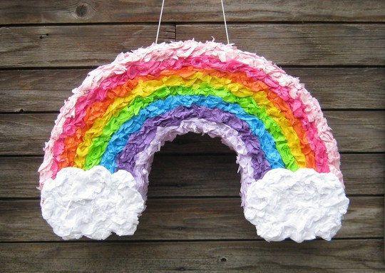 rainbow pinata #rainbow #pinata #party #birthday