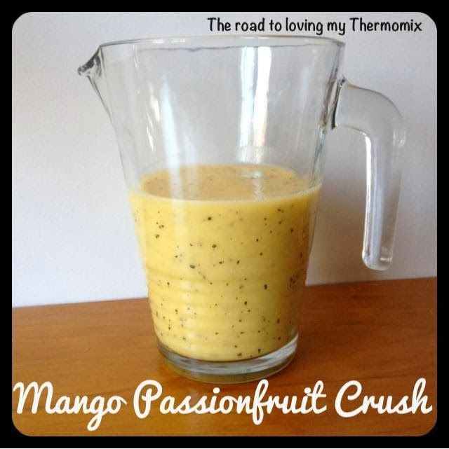 The road to loving my Thermomix: Mango Passionfruit Crush