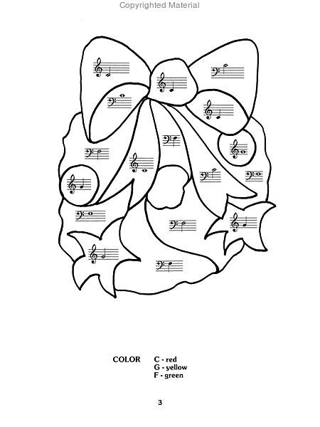 Color by Note Christmas Sheet Music by Sharon Kaplan | Sheet Music Plus
