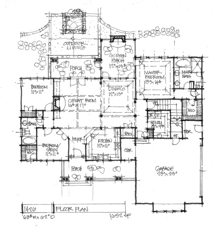 Conceptual Design #1426 - First floor plan