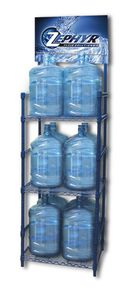 5 Gallon Water Bottle Storage Rack with 12 Bottle Capacity