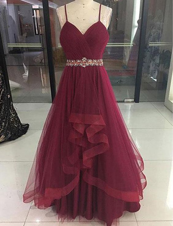 d9ff727a2d2 Wine Red High Low Party Dress 2019