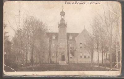 Postcard-Public School,Listowel,Ontario