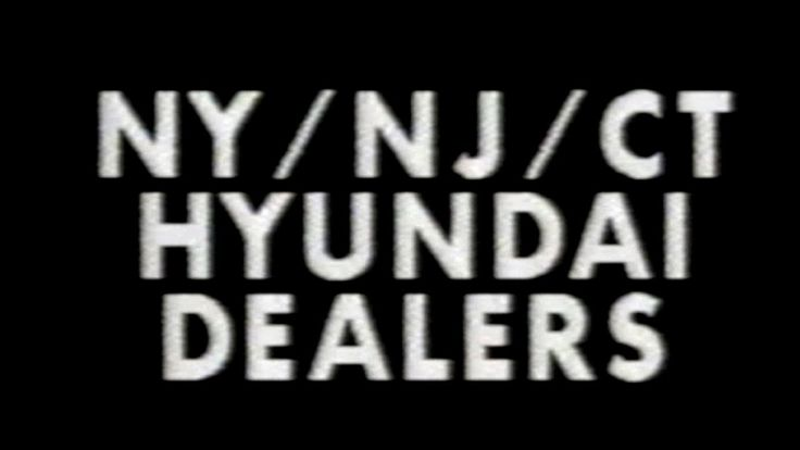 1988 - Commercial - NY/NJ/CY Hyundai Dealers - 1-800-826-CARS Posted on YouTube by: videoarcheology4 Find it here: http://youtu.be/i-X4LqSAIEQ Uploaded on November 12 2016 at 06:08PM