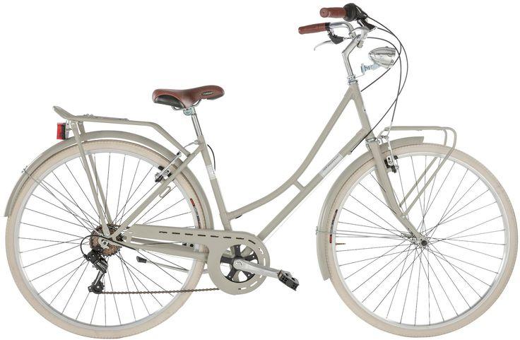 Citybike Damen »Viaggio «, 28 Zoll, 6 Gang, Felgenbremse für 379,99€. SHIMANO Kettenschaltung, LED-Scheinwerfer, Eleganter Stahlrahmen bei OTTO