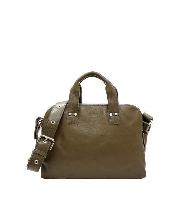 Johan Small Business Bag Bronze | Lumi Accessories  www.shoplumi.com