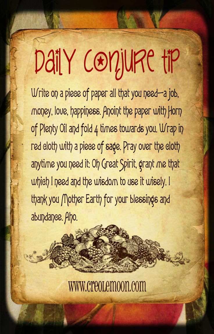 Daily Conjure Tip www.psychickerilyn.com www.facebook.com/PsychicKerilyn