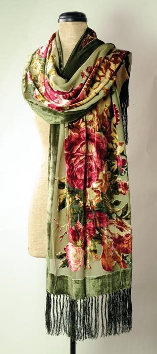 Velvet roses scarf   I just got one of these from E Bay & I love it. Lenett