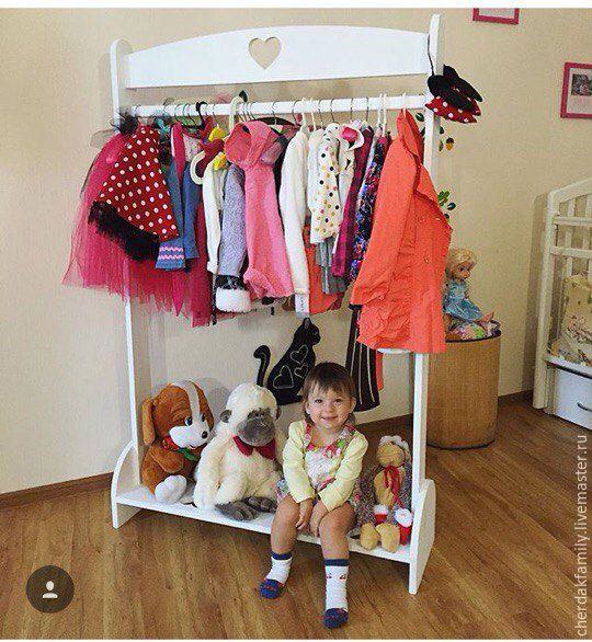 Купить Вешалка-гардероб для детской - белый, вешалка, вешалка для одежды, гардероб, гардеробная, вешалка для детской wardrobe, for kids, kidsroom