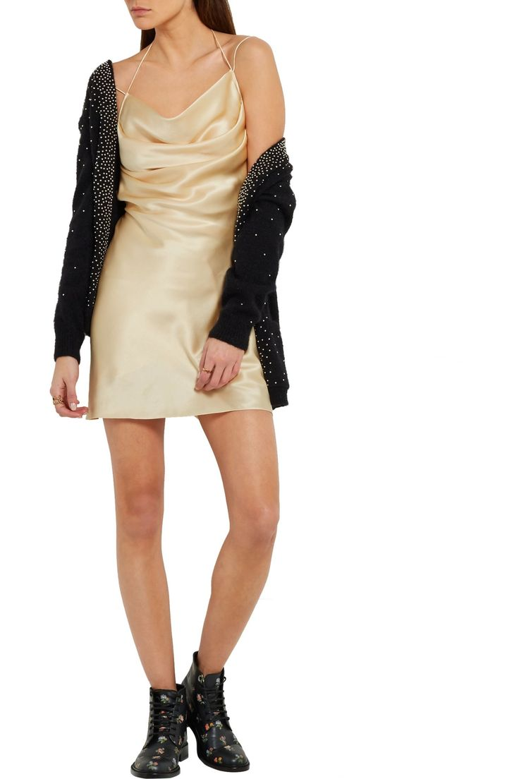 Silk-satin mini dress | SAINT LAURENT | Sale up to 70% off | THE OUTNET