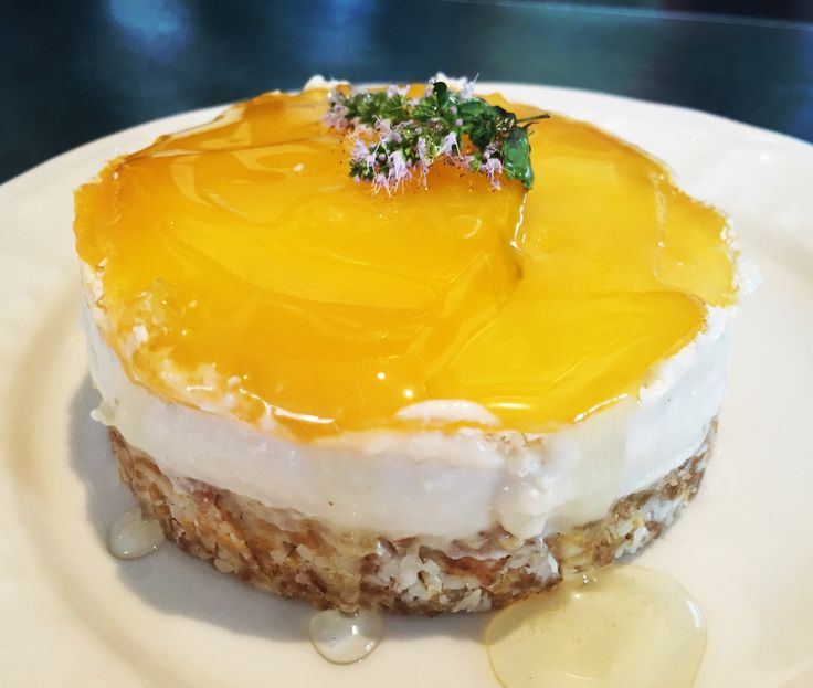 No cheesecake cru Mangue Coco