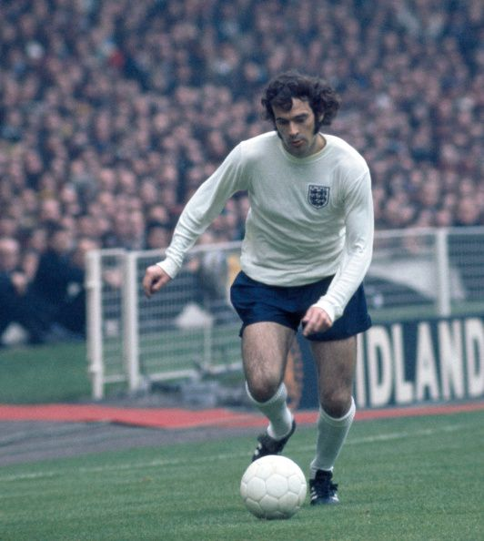 Peter Storey of England in action during the international football match against Scotland at Wembley Stadium in London on 19th May 1973 England won...