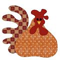 free chicken applique blocks...Lots!