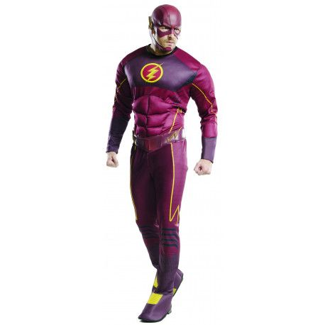 Disfraz de Flash Musculoso Adulto Liga de la Justicia #Costume #Flash