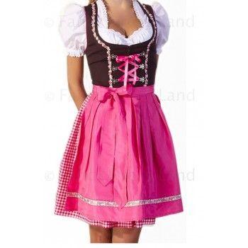 Womens Pink Dirndl Oktoberfest Costume