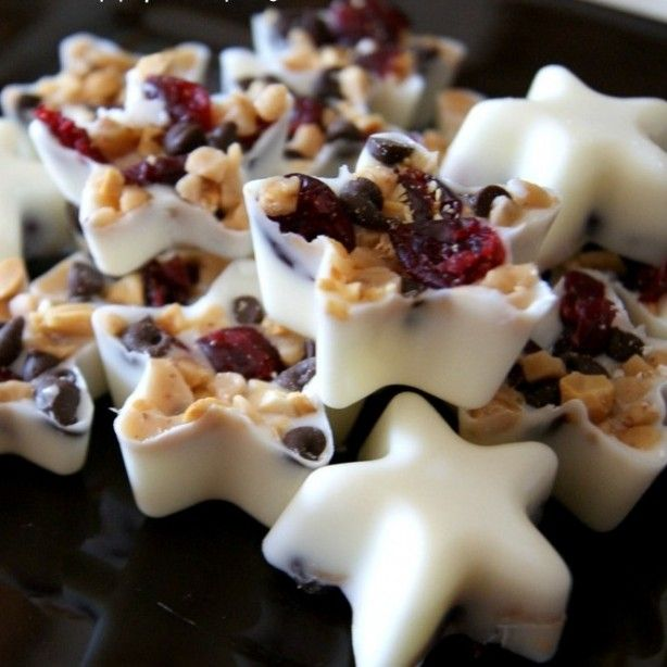 witte+kerst+chocolade+sterretjes