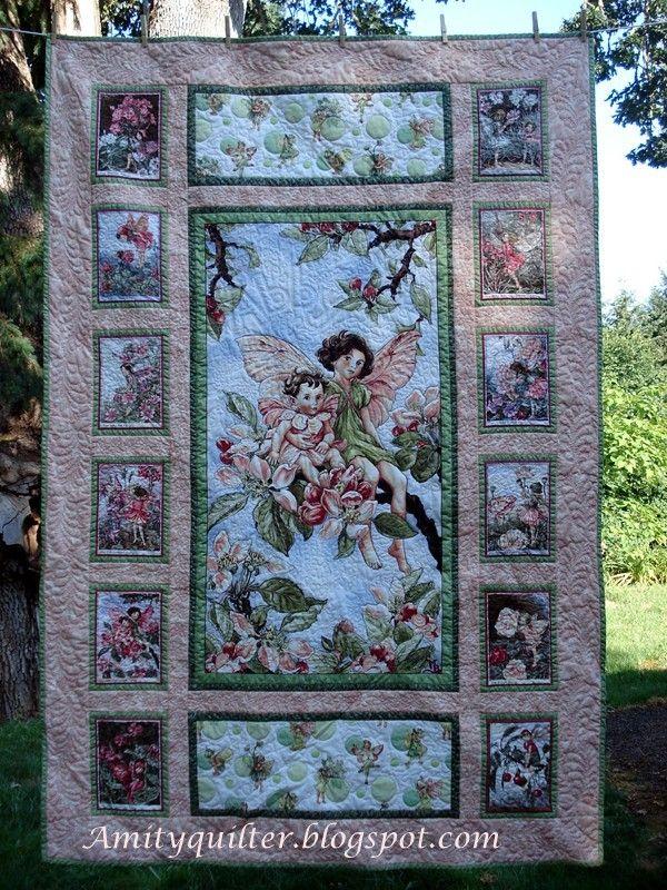 Michael Miller Fairy Frost panel quilt