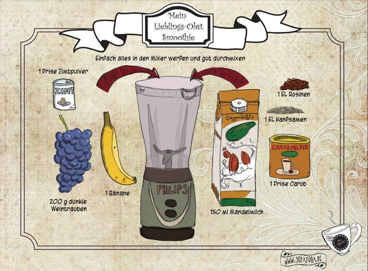 Mein Lieblings Obst Smoothie! Oder freie Radikale versus Kalorienbombe.