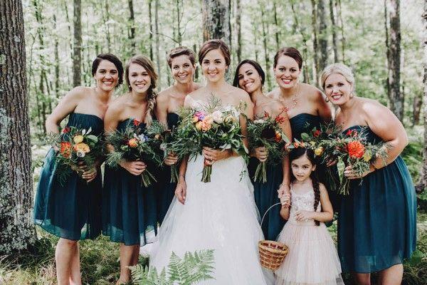 Minnesota woodland wedding at juliane james place teal for Wedding dresses minneapolis mn