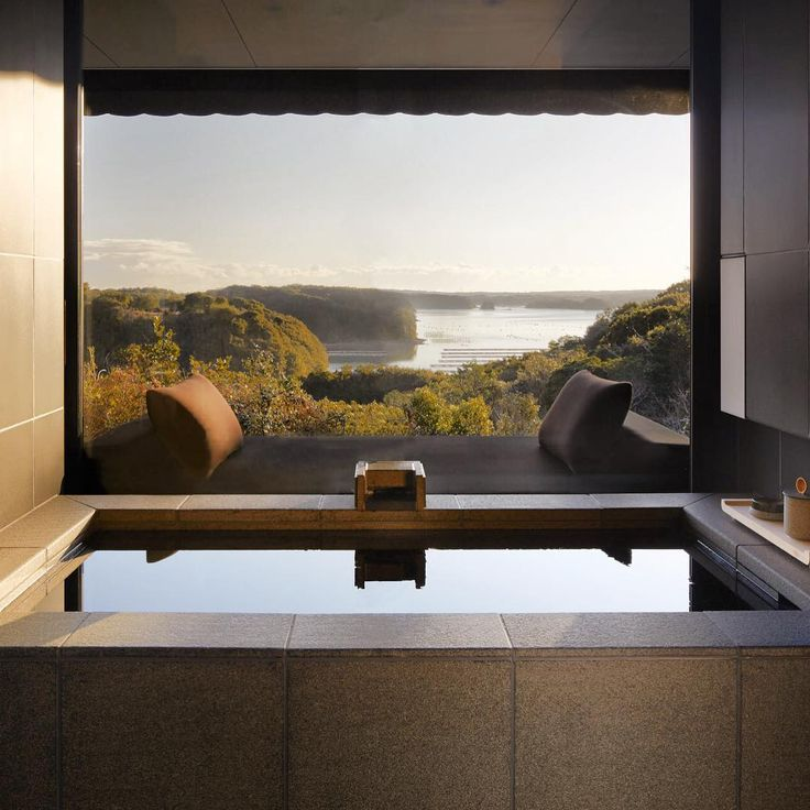 Amanemu embraces an ancient Japanese bathing tradition, using nutrient-rich thermal springs to provide a contemplative and restorative private onsen within each Suite and Villa. #amanresorts #amanemu