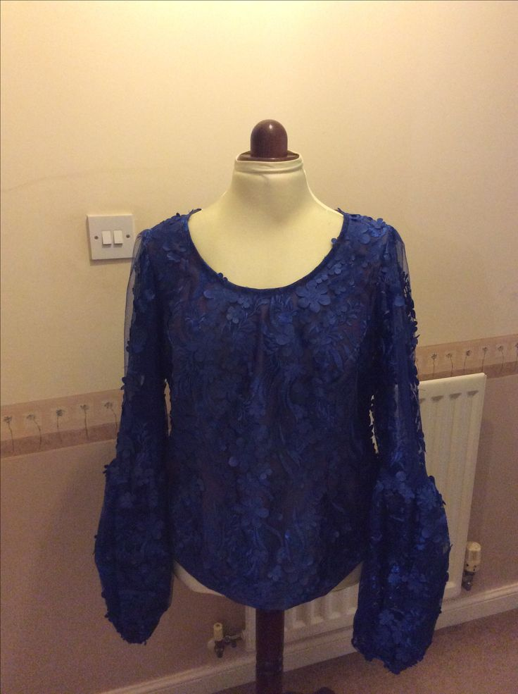 Lovely blue lace blouse . Iro and buba inspirationhttps://instagram.com/p/BU6ZtstDUc3/