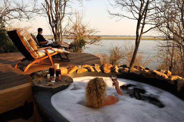 Wild Mango Honeymoon Suite at Kasaka River Lodge - Lower Zambezi National Park #Zambia