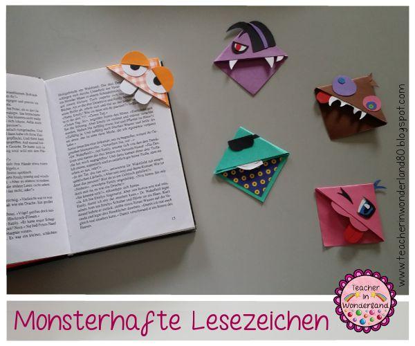 Teacher In Wonderland: Monsterhafte Lesezeichen