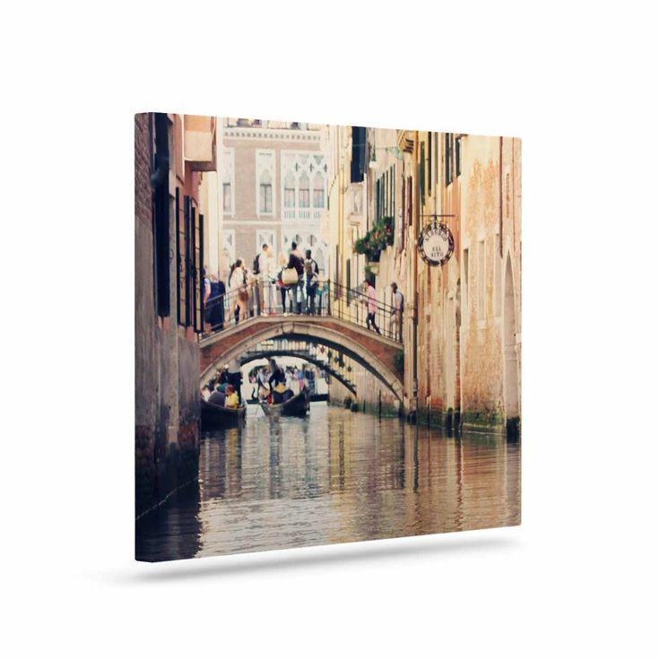 "Sylvia Coomes ""Venice 10"" Beige Brown Canvas Art"