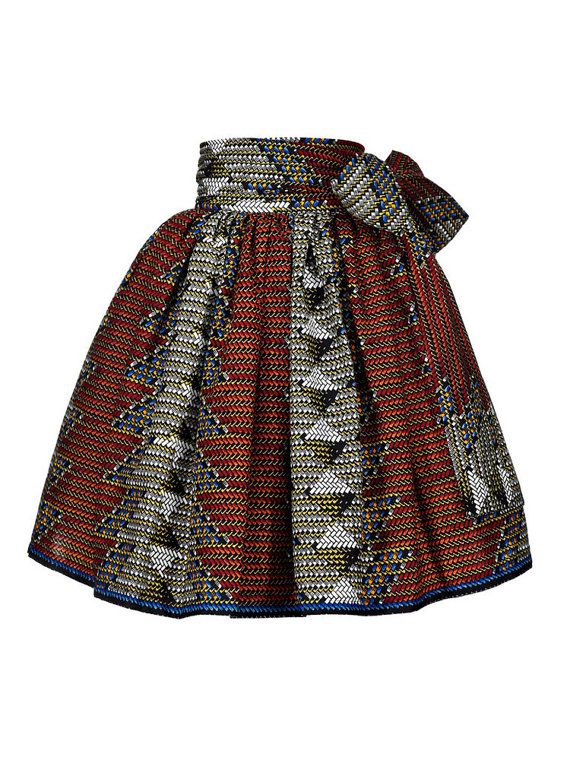 The Idaya African print midi skirt. African skirt by FashAfrique