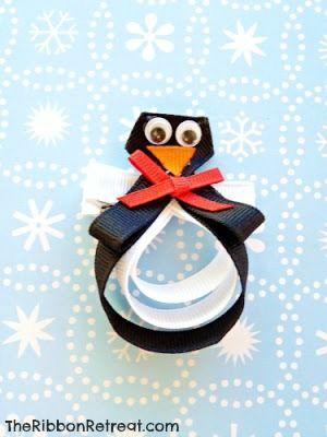 Penguin Ribbon Sculpture Tutorial - Basic Ribbon Sculpture Tutorial, get creative! {The Ribbon Retreat Blog}