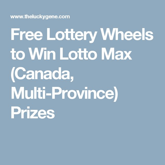 Free Lottery Canada
