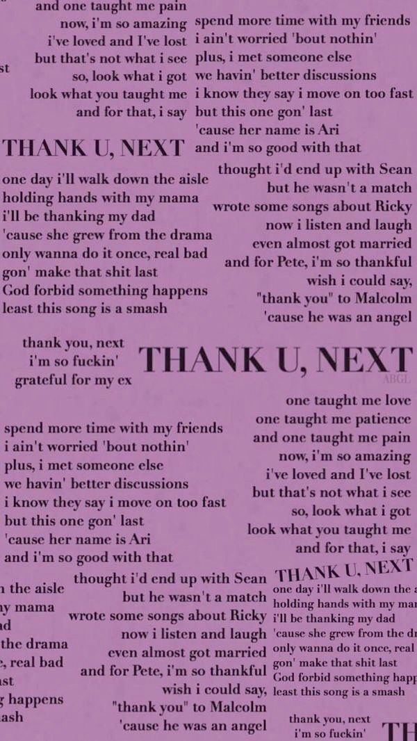 Ariana Grande Thank You Next Ariana Grande Quotes